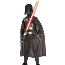 Fantasia Darth Vader Star Wars Tamanho 7/8 Anos Com Sabre