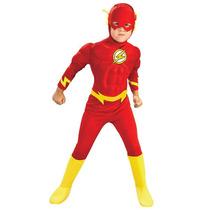 Fantasia Flash Infantil Luxo - Músculos Completa/ 3 A 5 Anos