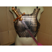 Armadura Peitoral Gladiador E Espada De 50 Cm