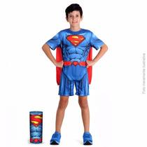 Promoção Fantasia Super Homem Pop Na Lata - M