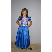 Fantasia Cinderela - Vestido Tamanho P M G 2 4 6 Anos