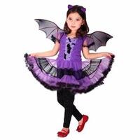 Fantasia Infantil Bat Girl Roxa