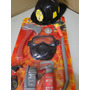Kit Bombeiro Mascara Capacete Machado Lanterna Distintivo Pe