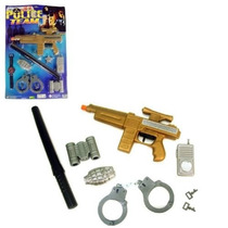 Kit Policial Com 8 Peças Brinquedo Infantil