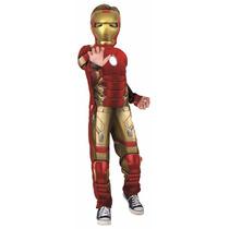 Fantasia Infantil Homem De Ferro Luxo- Musculo Alto Relevo
