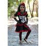 Halloween Fantasia Infanil: Vestido Caveira Mexicana Luxo