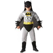 Fantasia Batman Infantil Luxo - Músculos - 5 A 7 Anos