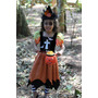 Vestido Fantasia Infantil Halloween Bruxa Noite Assombrada