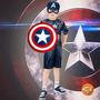 Fantasia Capitão América 2 Curta Infantil Com Escudo Rubies