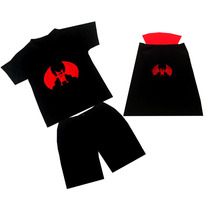 Fantasia Masc Infantil Vampiro Carnaval Halloween Tamanho1/2