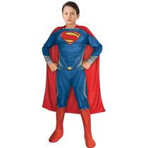 Fantasia Infantil Super Homem Macacao 8, 9, 10 Anos Tam. M