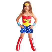 Fantasia Infantil Mulher Maravilha Standard Sulamericana