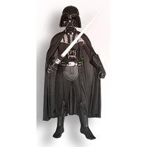 Fantasia Darth Vader Deluxe Criança Licenciado Rubies