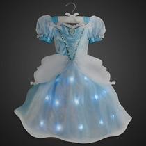 Fantasia Com Luz Cinderela Disney Vestdio 3 A 4 Anos