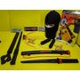 Super !!!!! Ninja Dragão Touca Mascara Arma Nunchaku Espada