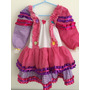 Vestido Infantil Festa Junina Caipira