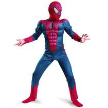 Fantasia Homem Aranha Infantil Luxo - Músculos - 3 A 5 Anos