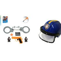 Kit Policial Infantil Força Tática E Capacete