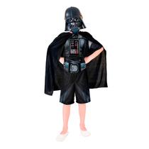 Fantasia Darth Vader Star Wars Com Capa E Máscara Original