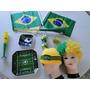Novo !! Kit Copa 2014 Brasil Torcida Corneta Peruca Buzina