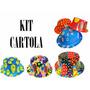 Kit C/ 50 Cartola Baixa - Festa, Aniversario - Frete Grátis!