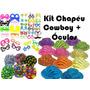 Kit C/ 12 Chapéu Cowboy + 12 Óculos - Festa, Balada