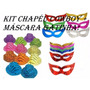 Kit C/ 12 Chapéu Cowboy + 12 Máscara Gatinha - Festa, Balada