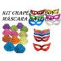 Kit C/ 20 Chapéu Cowboy + 20 Máscara Gatinha - Festa, Balada