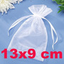10 Saco De Organza Branco Pequeno Saquinho Amendoa Casamento
