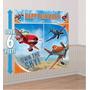 Kit Decoração Festa Infantil Com Painel Aviões Disney