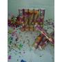 Lança Confetes Colorido 30 Cm.caixa Com 6 Tubos