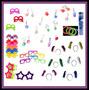 40 Colar Pisca +100 Neon +01 Lança Conf +40 Óculos +40tiaras