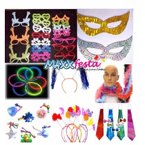 Kit Adereços P/debutante 200/250 Convidados C/plumas+mascara