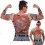 Segunda Pele Tatto Camiseta Tatuagem Tato Shirt Tattoo Blusa