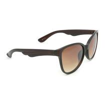 Óculos De Sol Marrom Armação De Asas