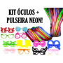 Kit Balada - 30 Óculos + 100 Pulseira Neon - Frete Grátis