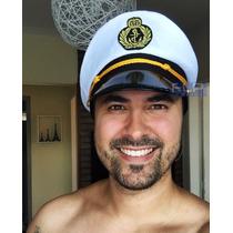 Boina Quepe Chapéu Marinheiro Marinha Fantasia Festa Cosplay