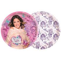 Prato 18 Cm 8 Unid. Violetta Disney Original