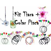 Kit Festa C/ 25 Tiara + 50 Colar Pisca - Balada, Casamento