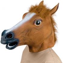 Máscara Cabeça De Cavalo Latex Fantasia Festa Cara Horse
