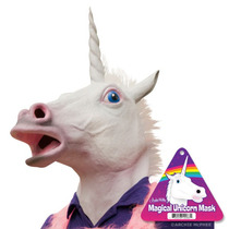 Máscara Unicórnio Látex Realística Engraçadíssima Cavalo