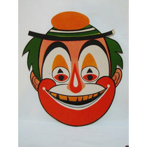 Máscara De Carnaval Antiga - Palhaço-vintage