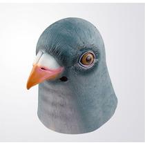 Máscara De Pombo Pomba Látex Realista Pigeon Mask Horse