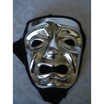 Mascara Teatro Prata Carnaval Haloween Festa Capuz