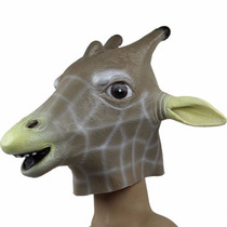Máscara De Girafa Cavalo Em Látex Cosplay - Pronta Entrega