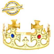 Coroa Rei Plástica Ajustável Festa Fantasia Cosplay