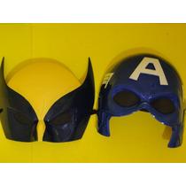 Conjunto 02 Mascara Volverine & Capitão America