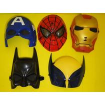 Conjunto De 05 America Batman Volverine Homem Ferro Aranha