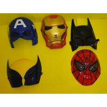 America Batman Volverine Homem Ferro Aranha Kit Mascaras
