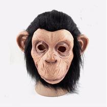 Máscara Látex Cabeça De Macaco Chimpanzé Gorila Kong Monkey